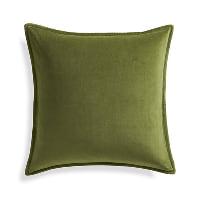 green velvet pillow (a)