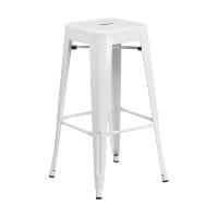 Carlisle white bar stool
