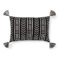 black tribal lumbar pillow (b)