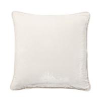 ivory velvet pillow (a)