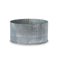 Thatcher corrugated zinc pot