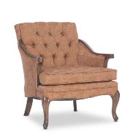 Heather orange armchair