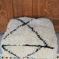 ivory beniouarain floor cushion