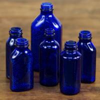 cobalt medicine bottles