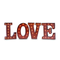 red love marquee lights