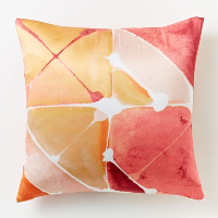 Poppy watercolor pillow