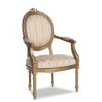 Eva gold armchairs