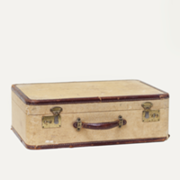 Karver tweed suitcase
