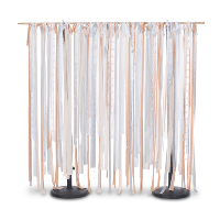 peach ribbon backdrop