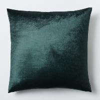 green velvet pillow (b)