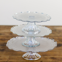 Gayle 3-tiered glass pedestal