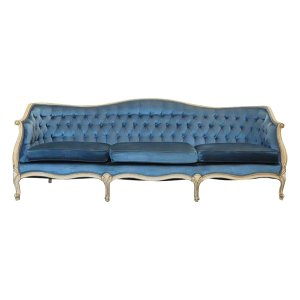 The Chesapeake: Blue Velvet Sofa