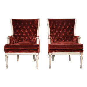 The Prynnes: Rust Velvet Chairs