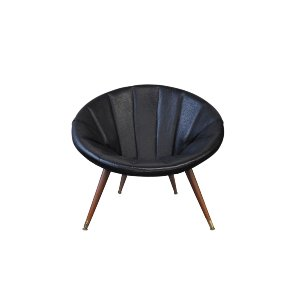 The Presley: Onyx Midcentury Chair