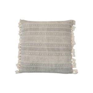 The Jan: Gray Tassel Floor Pillow