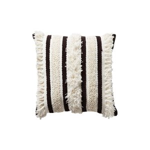 The Otis: Black and White Textured Pillows