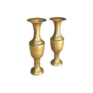 The Farrahs: Brass Vase Set