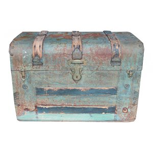 Wayne: Tin Steamer Trunk