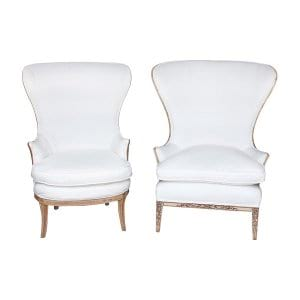 The Paytons: White Wing Chairs