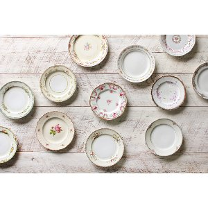 The Florence: Mixed Vintage Salad/Dessert Plates