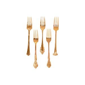 Jolee Vintage Gold-Plated Dinner Fork