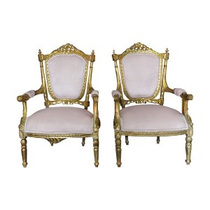 The Antoinettes: Blush and  Gold Chairs