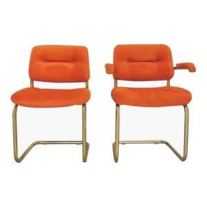 The Archies: Orange Midcentury Chairs