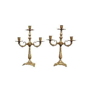 The Leoras: Brass Candelabras