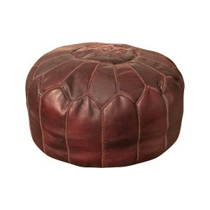 New! Marrakesh Leather Poufs