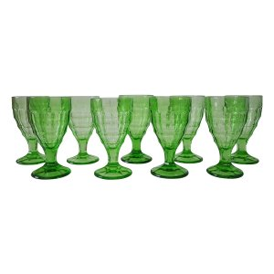 Lime Green Glass Goblets