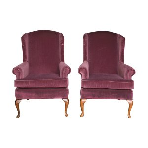 The Royals: Amethyst Velvet Chairs