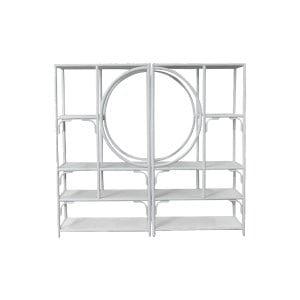 The Scout: White Bamboo Shelf Set