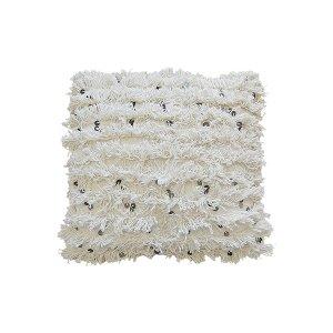 The Ronan: Fringe Cream Pillows