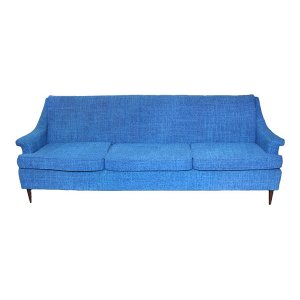 The Barbara: Royal Blue Midcentury Sofa