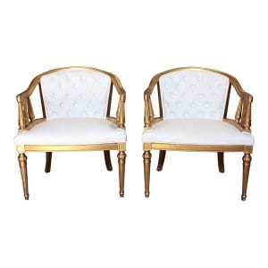 The Ameilia: White Tufted Chairs