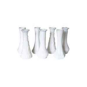 The Murray Hill: Small Milk Glass Vases