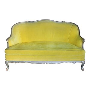 The June: Bright Yellow Settee