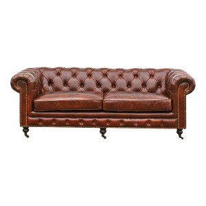 The Harrison: Tufted Leather Sofa