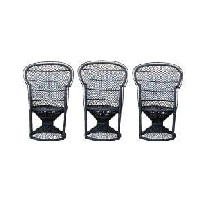 The Jaggers: Black Rattan Wicker Chairs