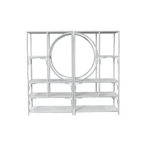 The Scout: White Bamboo Shelves