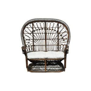 The Willow: Rattan Settee