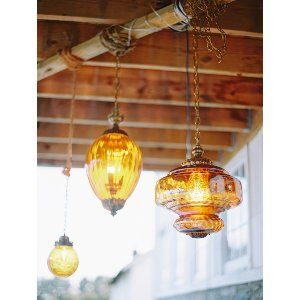 The Clovers: Vintage Amber Pendant Lights