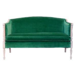 The Ainsleys: Emerald Green Settee