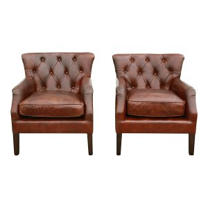 The Georgetowns: Tufted Leather Chairs