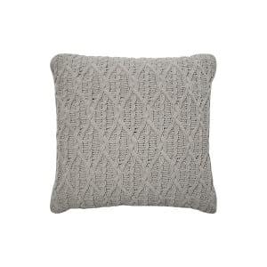 The Douglas: Gray Knit Pillow