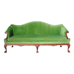 The Gweneth: Spring Green Velvet Sofa
