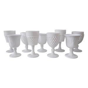 White Milk Glass Goblets