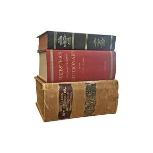 The Lawrences: Oversized Vintage Dictionaries
