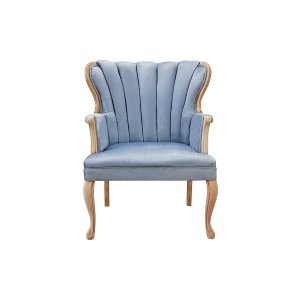 The Faye: Dusty Blue Velvet Chair