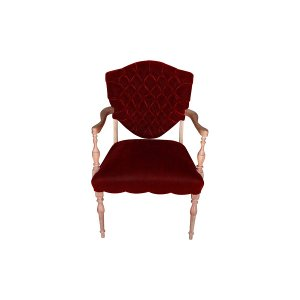 The Truman: Merlot Tufted Chair